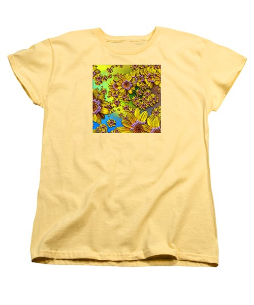 Women's T-Shirt (Standard Cut) featuring the photograph Crazy Daisies by Nick Kloepping