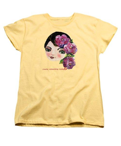 Creative Green Eye Women's T-Shirt (Standard Cut) by Vesna Martinjak