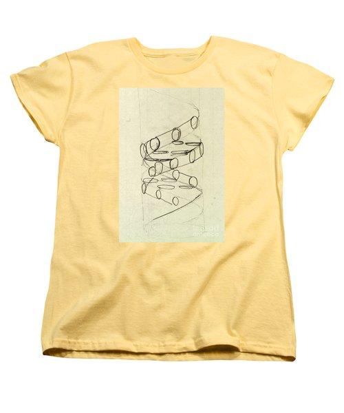 Cricks Original Dna Sketch Women's T-Shirt (Standard Cut) by Science Source