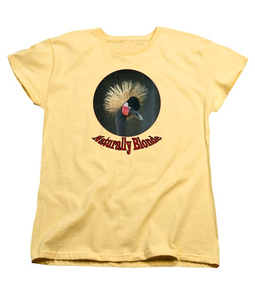 Crowned Crane - Naturally Blonde - Transparent Women's T-Shirt (Standard Cut) by Nikolyn McDonald