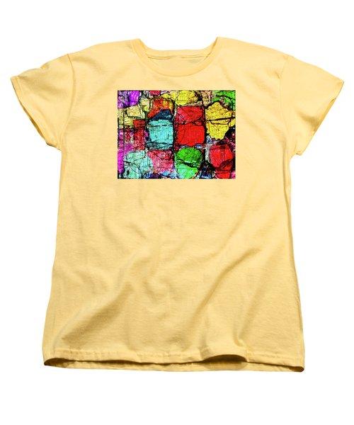 Crumbling Stone Wall Women's T-Shirt (Standard Cut) by Don Gradner