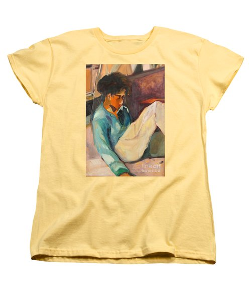 Women's T-Shirt (Standard Cut) featuring the painting Crystal by Daun Soden-Greene