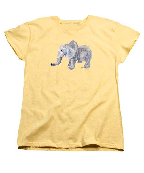 Cuddly Elephant II Women's T-Shirt (Standard Cut) by Angeles M Pomata