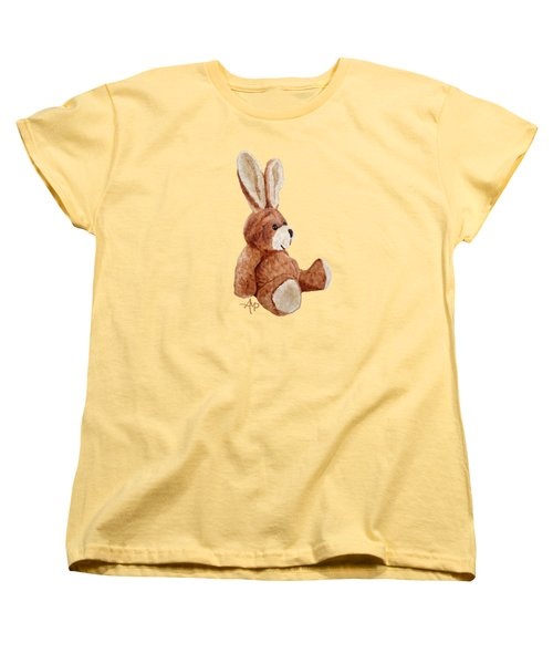 Cuddly Rabbit Women's T-Shirt (Standard Cut) by Angeles M Pomata