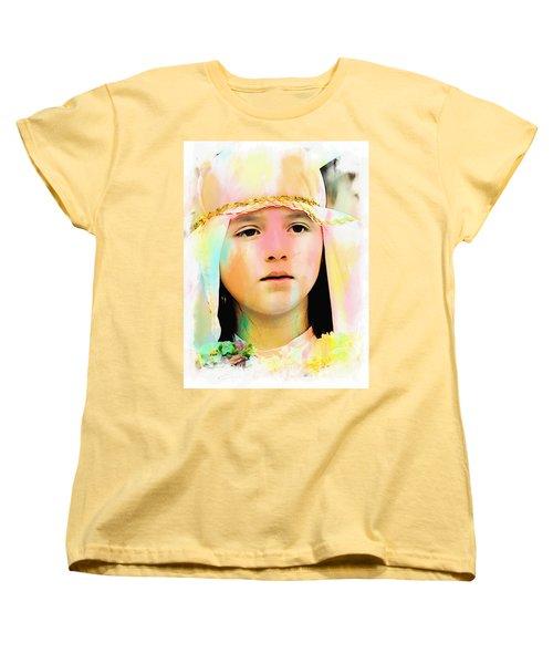 Women's T-Shirt (Standard Cut) featuring the photograph Cuenca Kids 899 by Al Bourassa