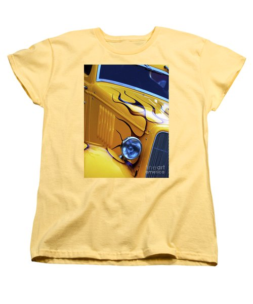 Women's T-Shirt (Standard Cut) featuring the photograph Custom 1934  Ford Artwork by Baggieoldboy