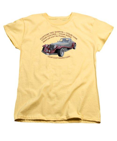Custom Tee Shirts Women's T-Shirt (Standard Cut) by Jack Pumphrey
