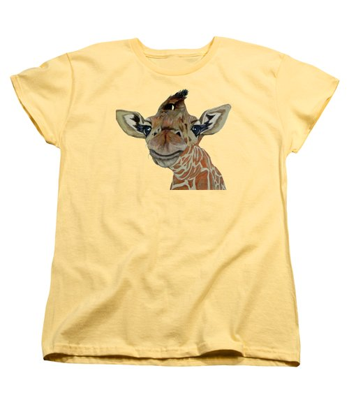 Cute Giraffe Baby Women's T-Shirt (Standard Cut) by M Gilroy