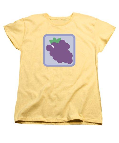 Cute Grapes Women's T-Shirt (Standard Cut) by Caroline Goh
