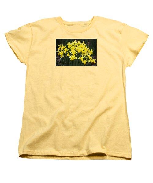Daffodil Yellow Women's T-Shirt (Standard Cut) by Shirley Mitchell