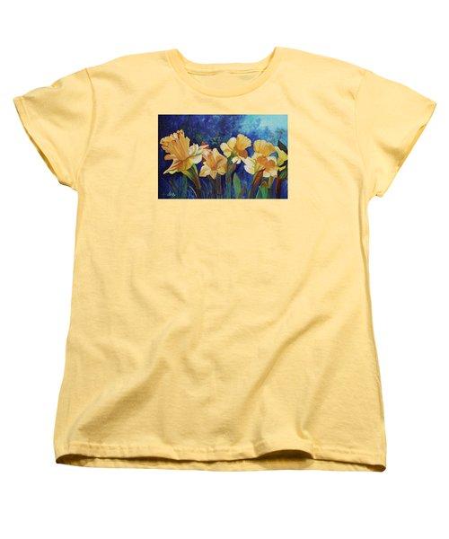 Daffodils Women's T-Shirt (Standard Cut) by Alika Kumar