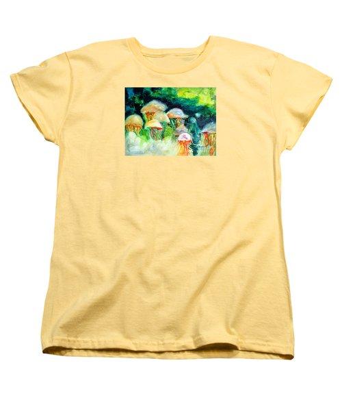 Dance Of The Jellyfish Women's T-Shirt (Standard Cut) by Kathy Braud