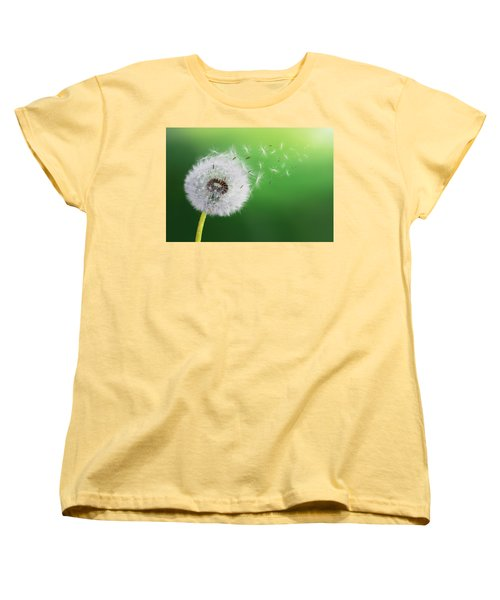 Women's T-Shirt (Standard Cut) featuring the photograph Dandelion Seed by Bess Hamiti