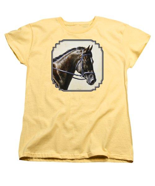 Dark Bay Dressage Horse Phone Case Women's T-Shirt (Standard Fit)