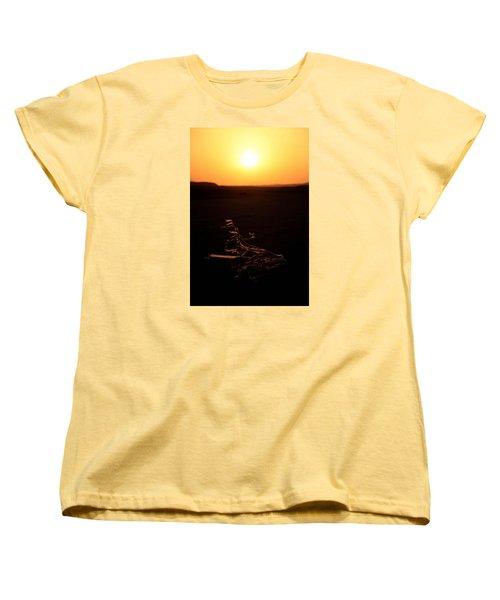 dark in the U K Women's T-Shirt (Standard Cut) by Jez C Self