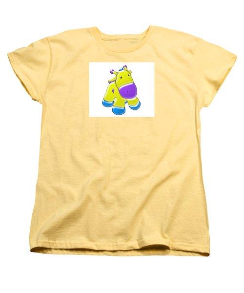 Darling Calf Cartoon Women's T-Shirt (Standard Cut) by Karen Nicholson