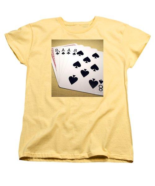 Dead Mans Hand Women's T-Shirt (Standard Cut) by Pg Reproductions