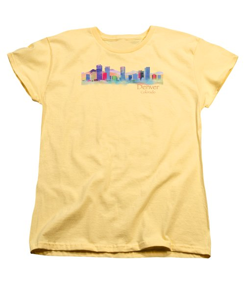 Denver Colorado Skyline Tshirts And Accessories Women's T-Shirt (Standard Cut) by Loretta Luglio