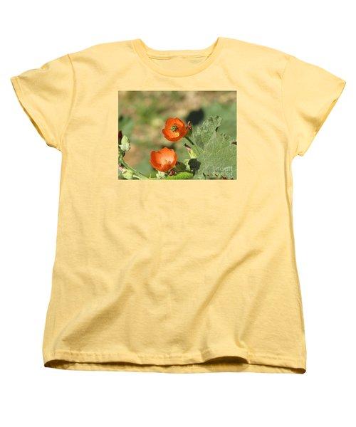 Desert Globemallow Blooms 227 Women's T-Shirt (Standard Cut) by En-Chuen Soo