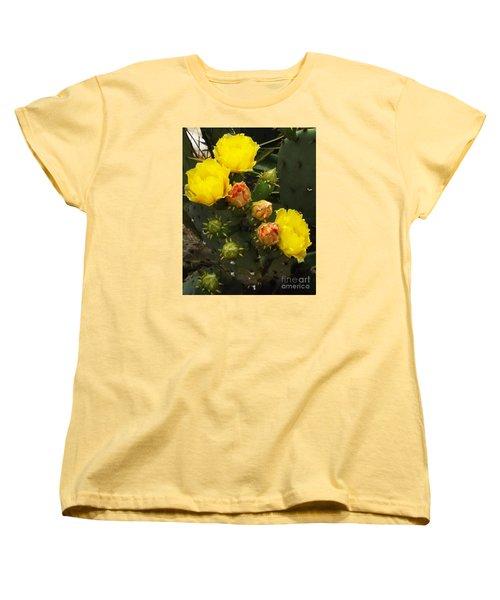 Desert Rose Women's T-Shirt (Standard Cut) by Audrey Van Tassell