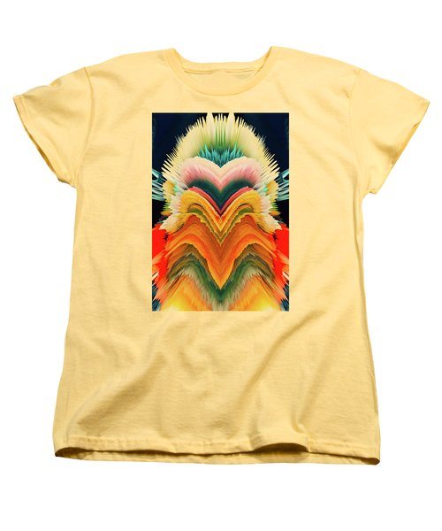Women's T-Shirt (Standard Cut) featuring the photograph Vivid Eruption by Colleen Taylor