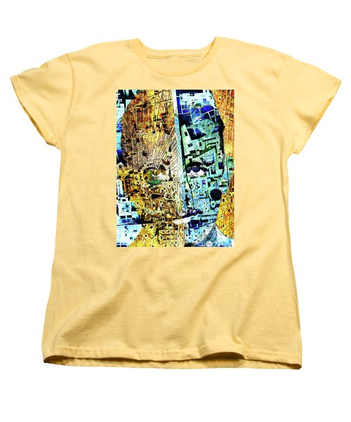 Women's T-Shirt (Standard Cut) featuring the painting Dillinger by Tony Rubino