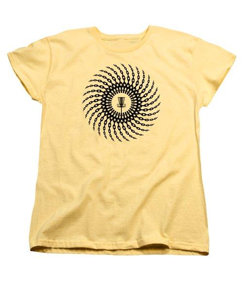 Disc Golf Basket Chains Women's T-Shirt (Standard Cut) by Phil Perkins