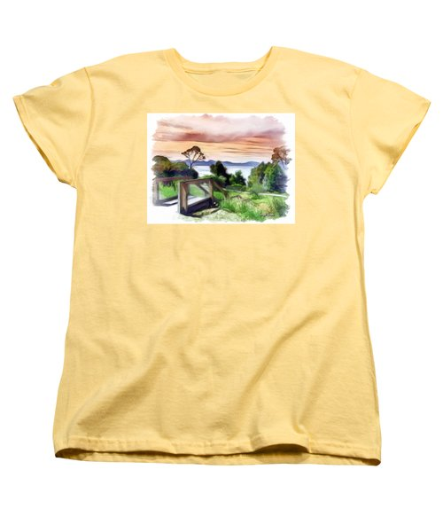 Do-00272 Look Out From Sarah Island Women's T-Shirt (Standard Cut) by Digital Oil