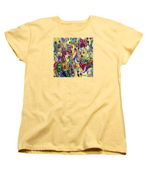 Dogs Dogs Dogs Women's T-Shirt (Standard Cut) by Eloise Schneider