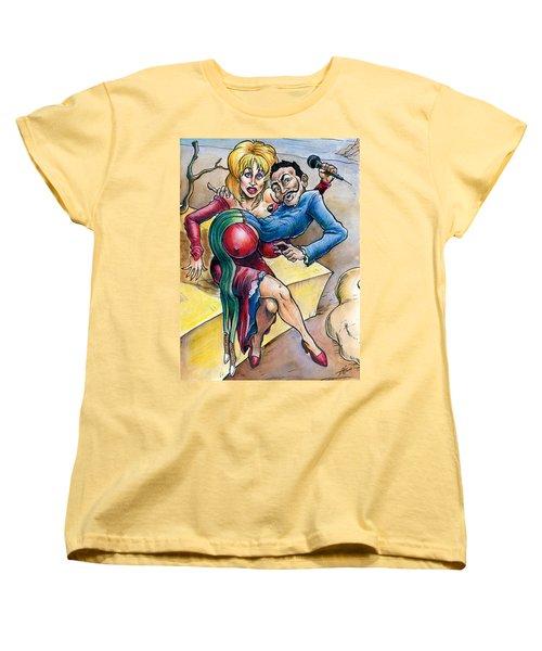 Dolly Meets Dali Women's T-Shirt (Standard Cut) by John Ashton Golden