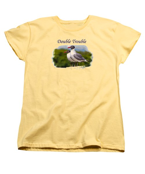 Double Trouble 2 Women's T-Shirt (Standard Cut) by John M Bailey