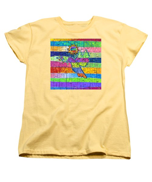 Dove Of Peace, Color And Light Women's T-Shirt (Standard Cut) by Jeremy Aiyadurai