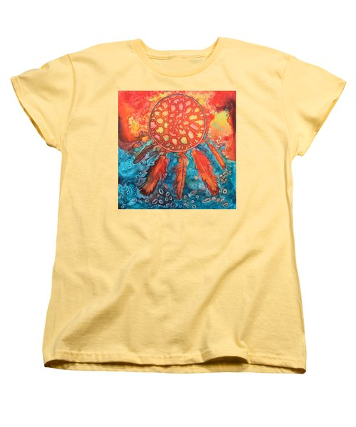 Women's T-Shirt (Standard Cut) featuring the painting Dream Catcher by Nancy Jolley