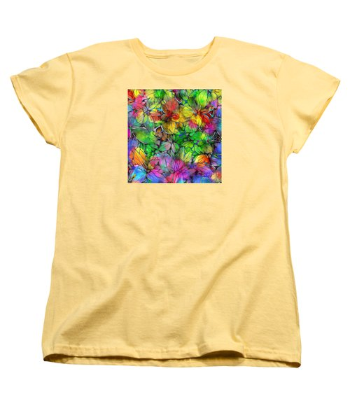 Dream Colored Leaves Women's T-Shirt (Standard Cut) by Klara Acel