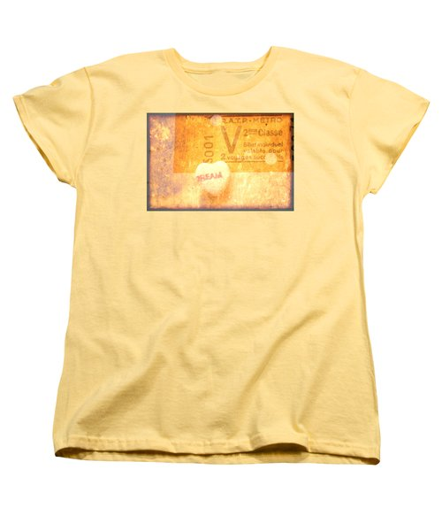 Dream Ticket Women's T-Shirt (Standard Cut) by Toni Hopper