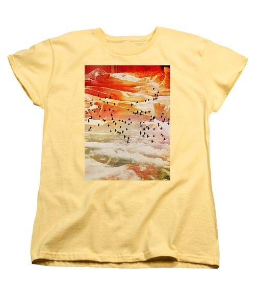 Dreaming Between The Sheets Women's T-Shirt (Standard Cut) by Ann Tracy