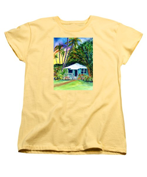 Women's T-Shirt (Standard Cut) featuring the painting Dreams Of Kauai 2 by Marionette Taboniar