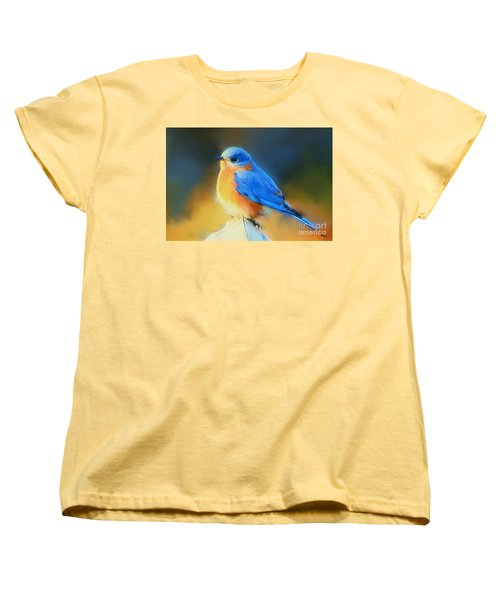 Dressed In Blue Women's T-Shirt (Standard Cut) by Tina  LeCour