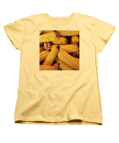 Dried Corn Cobs Women's T-Shirt (Standard Cut) by LeeAnn McLaneGoetz McLaneGoetzStudioLLCcom
