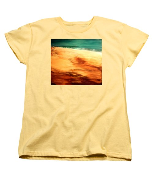 Women's T-Shirt (Standard Cut) featuring the painting Dune Shadows by Winsome Gunning