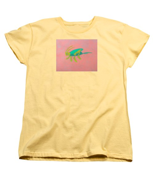 Eager Grasshopper Women's T-Shirt (Standard Cut) by Artists With Autism Inc