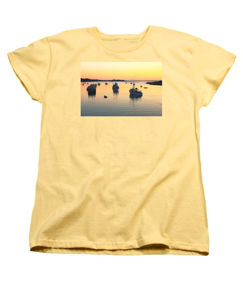 Early Morning In Chatham Harbor Women's T-Shirt (Standard Cut) by Roupen  Baker