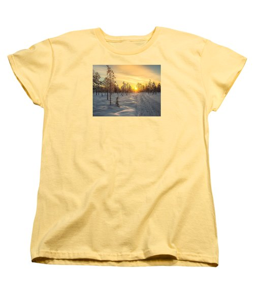 Early Morning Sun Women's T-Shirt (Standard Cut) by Rose-Maries Pictures