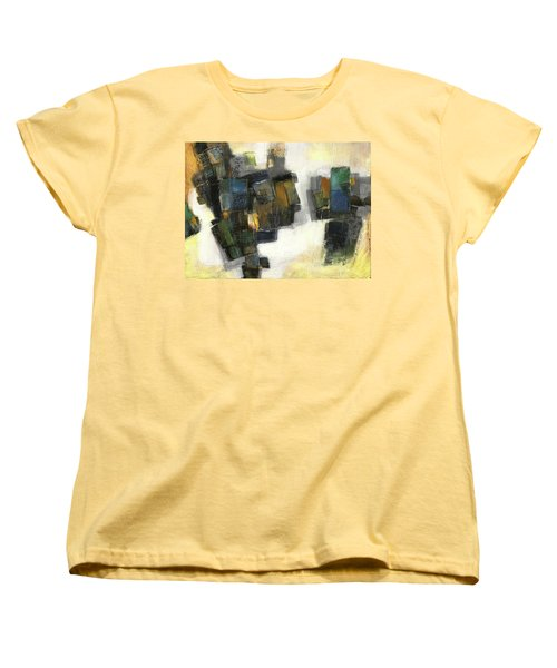 Lemon And Tiles Women's T-Shirt (Standard Cut) by Behzad Sohrabi