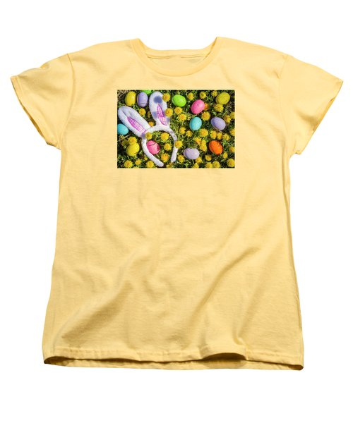 Women's T-Shirt (Standard Cut) featuring the photograph Easter Bunny Ears by Teri Virbickis