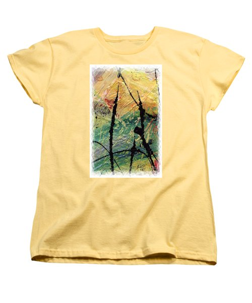 Women's T-Shirt (Standard Cut) featuring the painting Ecstasy II by Angela L Walker