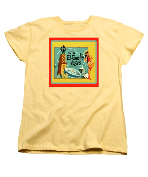 Women's T-Shirt (Standard Cut) featuring the photograph El Rancho by Jeff Burgess