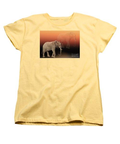Women's T-Shirt (Standard Cut) featuring the photograph Elephant Dreams by Myrna Bradshaw