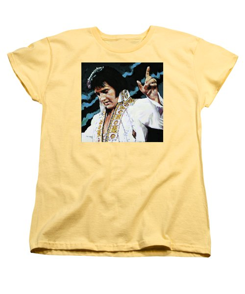 Elvis - How Great Thou Art Women's T-Shirt (Standard Cut) by John Lautermilch