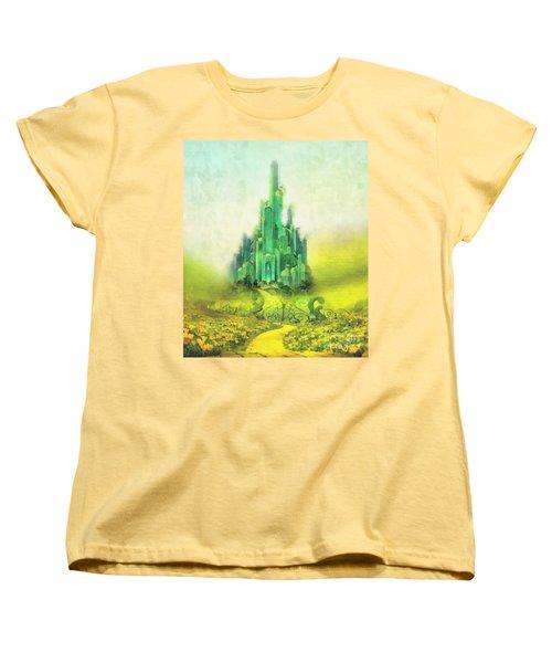 Emerald City Women's T-Shirt (Standard Cut) by Mo T
